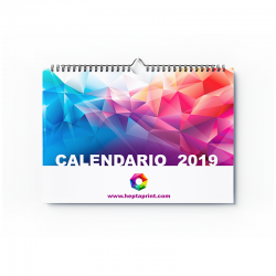 Calendario pared horizontal