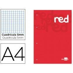 Bloc encolado A4 (color rojo)