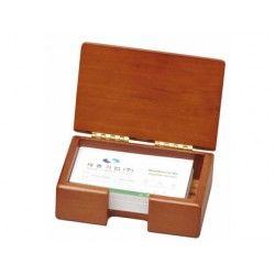 Portatarjetas de visita madera