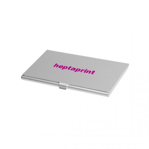 Porta tarjetas de aluminio