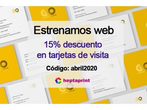 Descuento del 15% en Tarjetas de visita en Barcelona